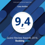 really proud of our 9.4 Booking.com rating!