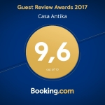 Casa Antica Booking.com Award 2017
